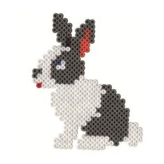 Rabbit hama perler beads by JohnsonKathy