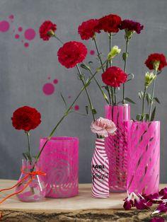 burdastyle Anleitung, bemalte Vasen aus 01/2012