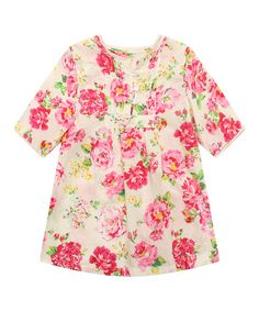 Red Floral Dress - Toddler & Girls | zulily