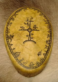 (Lapland people) Baby Shaman Witch Drum of the Lapland people.