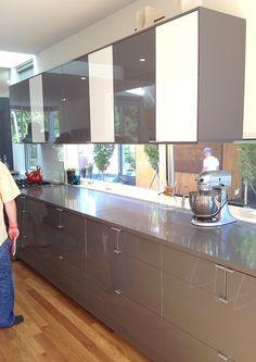 sleek, modern kitchen cabinets