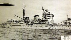 Lot-2406-17: Japanese cruiser Ashigara, Nachi class, starboard view, December 1940. Ashigara was sunk on June 8, 1945, by combined Allied forces. Halftone copy from the files of the Department of Naval Intelligence, June 1943. Courtesy of the Library of Congress. (2016/05/12).