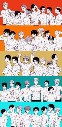 Haikyuu!! Nekoma, Karasuno, Fukurodani, Dateko, Aobajousai   BOKUTO WITH HIS HAIR DOWN I'M HYPERVENTILATING