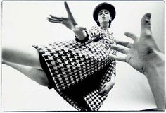 ART KANE   Fashion in Houndstooth Coat, 1962
