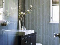 bathroom wallpaper ideas by erinn valencich