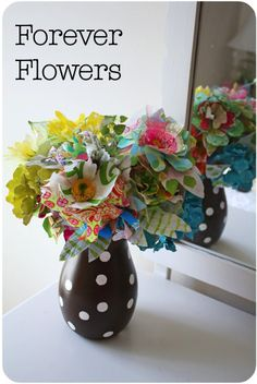 Do a redo!  Fashion new blossoms from store bought ones and you get these Forever Flowers by ohsohappytogether