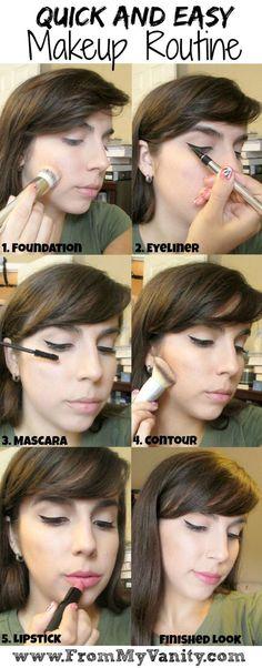 Quick Makeup Tutorial - Easy Makeup Routine  From My Vanity #makeup #makeuptutorial