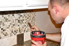 How to install backsplash mosaic tile in kitchen - not sure how brave I am to try this, but I want it!!