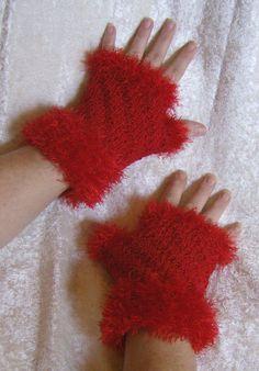 """Handschuhe - Fingerlose Handschuhe """"Red"""" - ein Designerstück von Rosemarie-Kerschl bei DaWanda"""