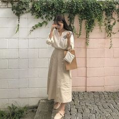 Korean Girl Fashion, Ulzzang Fashion, Korean Street Fashion, Korea Fashion, Muslim Fashion, Japanese Fashion, Modest Fashion, Japanese Minimalist Fashion, Long Skirt Fashion
