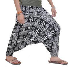4a552955340a Harem Pants Ali-Baba Trouser White Multi Color Harem Jumpsuit Morning Yoga  Size   fashion  clothing  shoes  accessories  mensclothing  pants  ad (ebay  link)