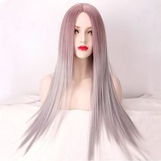 Beshiny 2 Tones Mixed Color Long Straight Hair Ombre Wig Heat Resistant Fiber Synthetic Wigs ** Learn more by visiting the image link.(This is an Amazon affiliate link and I receive a commission for the sales)