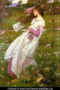 Windflowers  1903 - John William Waterhouse - www.most-famous-paintings.org