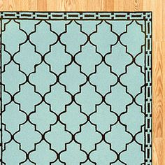 Aqua Floor Tile Indoor-Outdoor Rug | World Market. For my future Teal/mint & Red living room!