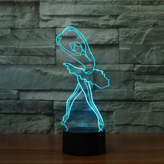 The Ballerina 3D LED lamp creates an optical illusion that tricks the eyes. Light up your lives with Lampeez. Get yours today!