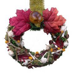 Őszi kopogtató gombával - Szárazvirág díszek webáruháza Wreaths, Fall, Decor, Autumn, Decoration, Door Wreaths, Fall Season, Deco Mesh Wreaths, Decorating