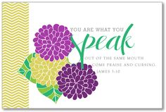 You are WHAT YOU SPEAK Printable 8x10. $7.00, by Just Us Three Design https://www.etsy.com/listing/106461305/you-are-what-you-speak-printable-8x10