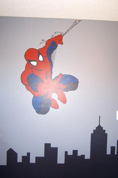 mural for my son's bedroom, Spiderman is a fun super hero!