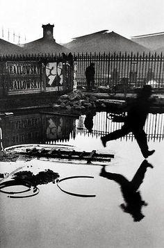 Henri Cartier-Bresson, Behind the Gare Saint Lazare, Paris,1932, gelatin silver print
