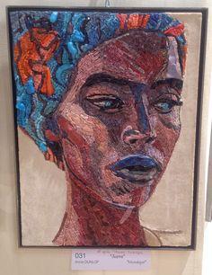 """Annie Dunlop mosaiste, portrait """"noire en #mosaique"""""""