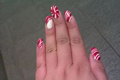 Peppermint candy nails