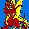 Red little dragon coloring - http://ezarcade.net/games/red-little-dragon-coloring/