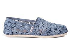 TOMS Denim Crochet Women's Classics just in and ready for your feet!