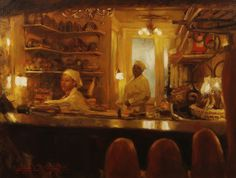 Balthazar's Boulangerie  by Glenn Harrington. I love this, it feels very warm... I'd love to have it hanging up in my kitchen :) or dining room or something