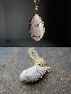 A stone that's this interesting on its own needs no other embellishment. #etsyjewelry