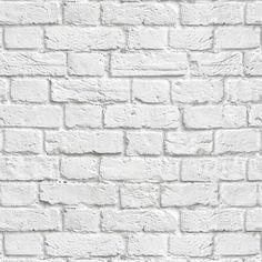 Papel de parede tijolo demolição branco