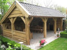 Pergola To House Attachment Code: 6451975796 Garden Buildings, Garden Structures, Outdoor Structures, Backyard Pavilion, Backyard Bar, Outdoor Rooms, Outdoor Living, Wooden Gazebo, Gazebo Plans
