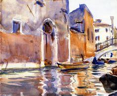 John Singer Sargent, Side Canal Venice