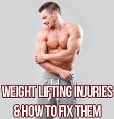 Weight Lifting Injuries And How To Fix Them. From lower back pain, muscle tears, to tendinosis, learn how to prevent and/or fix injuries so you can keep building muscle in the gym for years to come here http://www.musclehack.com/weight-lifting-injuries-and-how-to-fix-them/