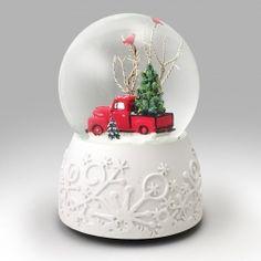 Ford F-1 Pickup Snow Globe Tall Christmas Trees, Christmas Red Truck, Christmas Snow Globes, Christmas Fun, Christmas Wreaths, Christmas Decorations, Christmas Cakes, Snow Globe Kit, Diy Snow Globe