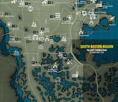 Fallout 4 - South Boston Region Map Fallout 4