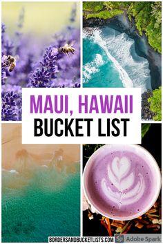 50 Awesome Things to Do on Maui | Borders & Bucket Lists Maui bucket list, things to do on maui, things to do on maui hawaii, things to do in hawaii, maui, hawaii, maui hawaii things to do in, maui hawaii, things to do on maui with kids, maui hawaii things to do, kihei maui things to do, lahaina maui things to do, hana maui things to do, road to hana #maui #hawaii #bucketlist Hawaii Travel Guide, Maui Travel, Usa Travel Guide, Travel Usa, Travel Destinations, Travel Tips, Trip To Maui, Hawaii Vacation, Maui Hawaii