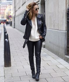 How to wear leather — 5 chic, stylish outfits