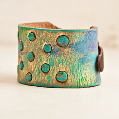 Bohemian Cuff Bracelet Boho Jewelry Wristband Leather Cuffs Christmas in July on Etsy, $37.00