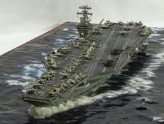 Best Photos of Model Ship Dioramas - Scale Model Ship Dioramas, Scale Model Ship Dioramas and Model Ship Diorama Scale Models, Scale Model Ships, Model Warships, Uss Nimitz, Modeling Techniques, Military Modelling, Visualisation, Military Diorama, Navy Ships