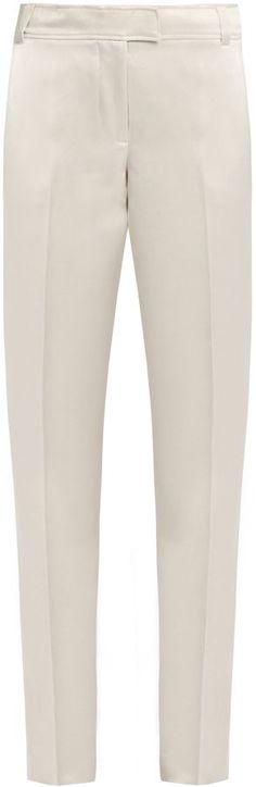 Elizabeth and James Wallace slim-leg duchess-satin trousers