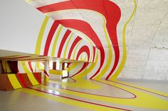 Renowned optical illusionist Felice Varini uses a bonafide Le Corbusier masterpiece as his latest canvas...
