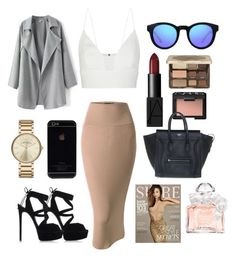 Night out by celine-o on Polyvore featuring polyvore, fashion, style, Narciso Rodriguez, Doublju, Casadei, CÉLINE, Marc by Marc Jacobs, GlassesUSA, Too Faced Cosmetics, NARS Cosmetics, Guerlain and Kerr®