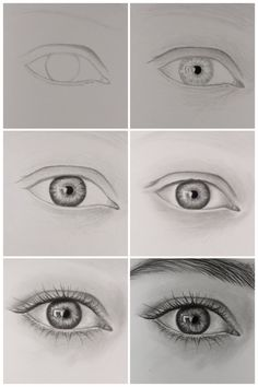 How to draw eyes step by step for beginners - how to draw