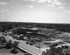 Air view of the new City-County Hospital and nurses' home at 1500 South Main, Fort Worth, County Hospital, Across The Border, Fort Worth Texas, New City, Nurses, Paris Skyline, Maine, Places, Travel