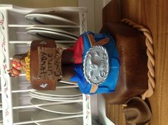 Baby shower cowboy cake.