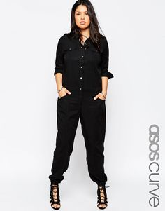 Image 1 of ASOS CURVE Exclusive Boiler Suit