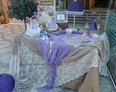 #βάπτιση #βάφτιση #τραπέζιευχών #ευχές #στολισμός Lilac, Lavender, Baptism Party, Christening, All Things, Headbands, Shabby Chic, Marriage, Bloom