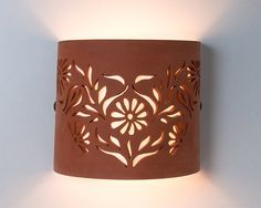 GRATIS envío flores accesorio de iluminación de pared en Ceramic Lamps, Ceramic Lantern, Ceramic Light, Ceramic Pottery, Pottery Art, Ceramic Art, Transparent Plastic Sheet, Luminaire Mural, Room Partition Designs