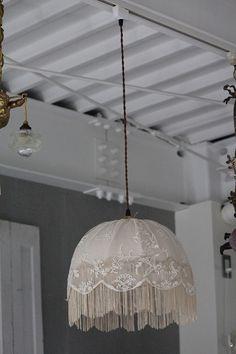 「アンティーク照明 フレンチアンティーク レースシェード + 灯具 」ココン・フワット Coconfouato [アンティーク照明&アンティーク家具] イギリスアンティーク・フランスアンティーク・フレンチアンティーク・アンティークシャンデリア・アンティーク家具・アンティーク照明・アンティーク雑貨・アンティークジュエリー・インテリア
