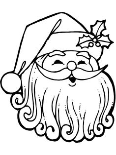 Christmas Coloring Page: Jolly Santa - Free printable Christmas coloring pages for kids from PrimaryGames.